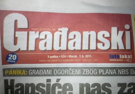 """Gradjanski list"" 07.06.2011."