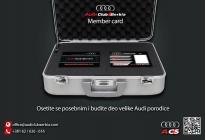 Audi klub clanska karta - prednja i zadnja strana