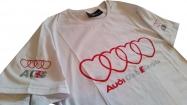 Audi bela majica