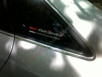 Audi Srbija nalepnice za bočna stakla