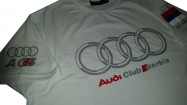 Bela Audi muska majica