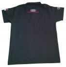 Audi majica sa kragnom - Zadnja strana crne majice