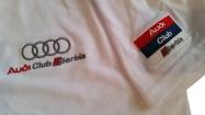 Audi majica sa kragnom bela