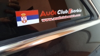 Audi klub Srbija nalepnica sa zastavom Srbije