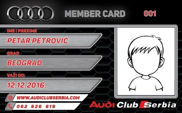 Audi decija clanska karta