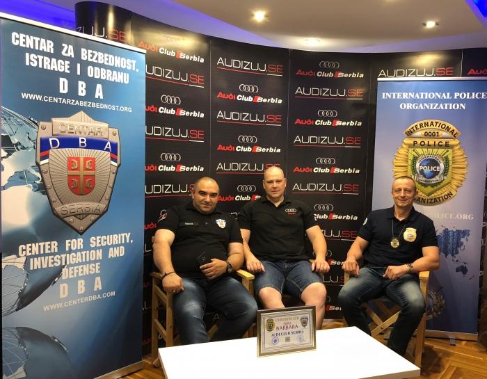 International Police Organization i DBA urucuju sertifikat za Audi club Serbia