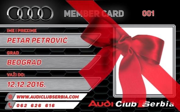 Audi klub clanska karta